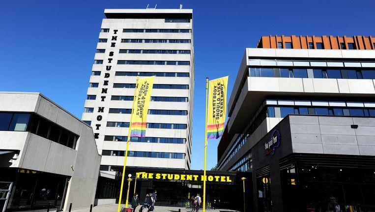 Exterieur van The Student Hotel aan de Wibautstraat in Amsterdam. Beeld anp