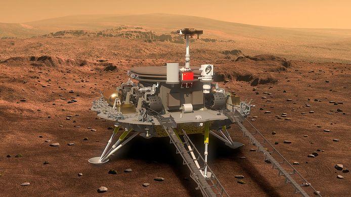 Als alles meezit, moet de Chinese Marsrover over zeven maanden landen op de rode planeet en daar drie maanden onderzoek gaan doen.