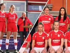 Witte broekjes schijnen door, vrouwen en meisjes Hulzense Boys voetballen nu in rode
