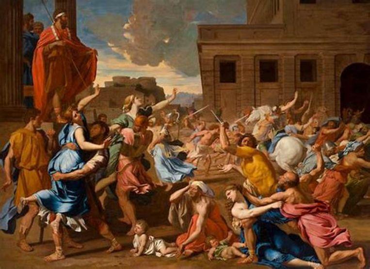 'Enlèvement des Sabines' (1635) Beeld Nicolas Poussin
