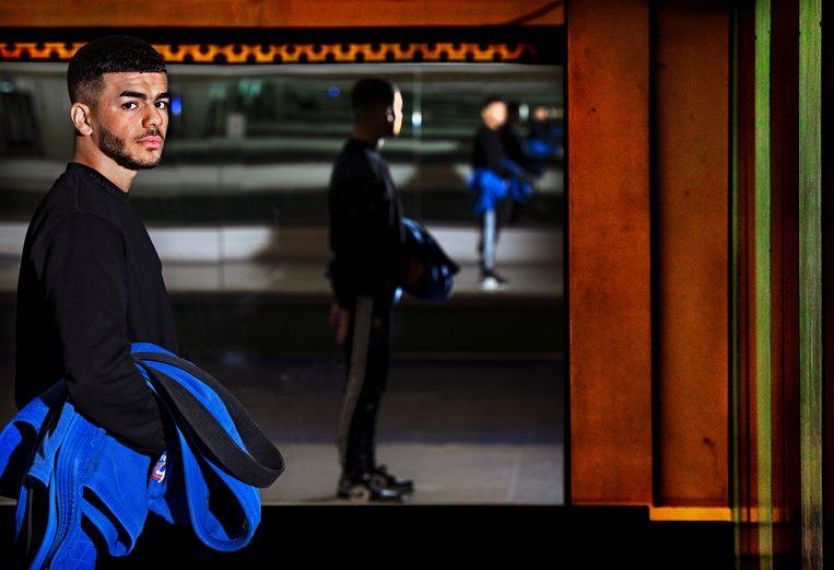 Adil Belkaid: 'Ik wil gewoon judoën en alles uit mijn carrière halen.' Beeld Klaas Jan van der Weij