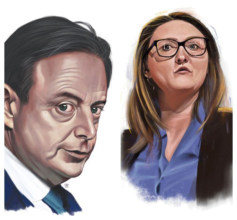 Bart De Wever, Gwendolyn Rutten. Beeld Studio Caro