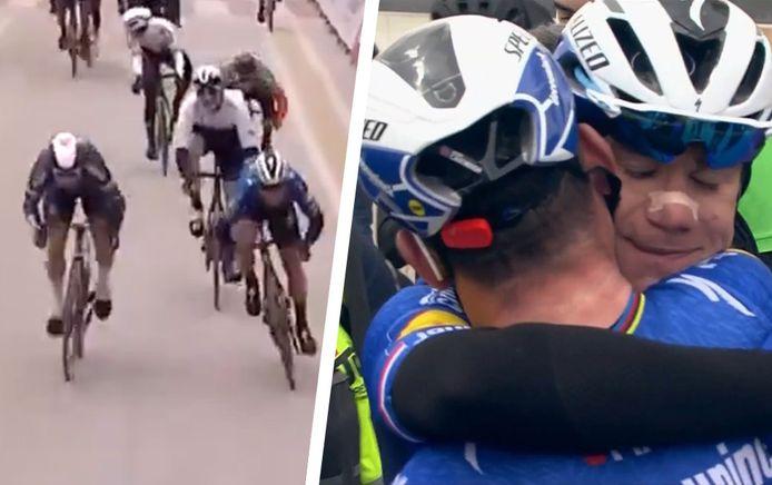 La dernière victoire de Mark Cavendish remonte à 2018 au Tour de Dubaï, où il s'était adjugé la troisième étape. Après sa victoire, le Britannique a enlacé son coéquipier Jakobsen, victime d'un terrible accident en août 2020 au Tour de Pologne.