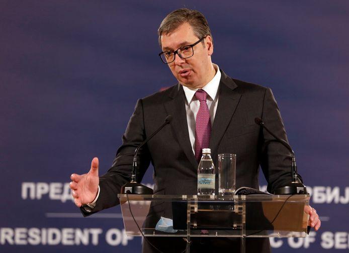 De Servische president Aleksandar Vučić.