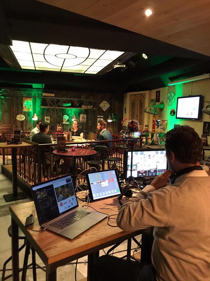 Ondernemerscafé Deurne heeft succes met online uitzendingen.