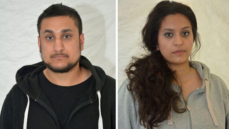 De 25-jarige Mohammed Rehman en zijn 24-jarige vrouw Sana Ahmed Khan. Beeld AP
