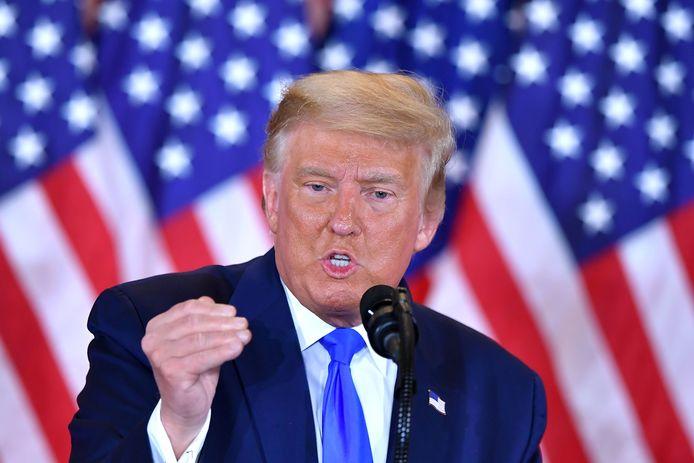Trump tijdens de persconferentie in het Witte Huis op 3 november.