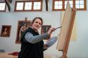 Simone Balhuizen uit De Steeg ontroerde Frits Spits het meest met een portret van hem in het tv-programma 'Sterren op het Doek'.