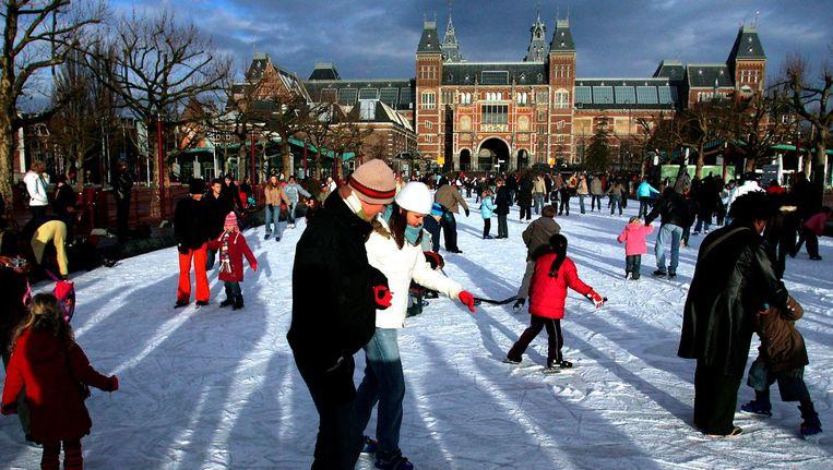 Hoezo binnen blijven? Als je de kou trotseert valt er van alles te beleven in Amsterdam. Beeld anp