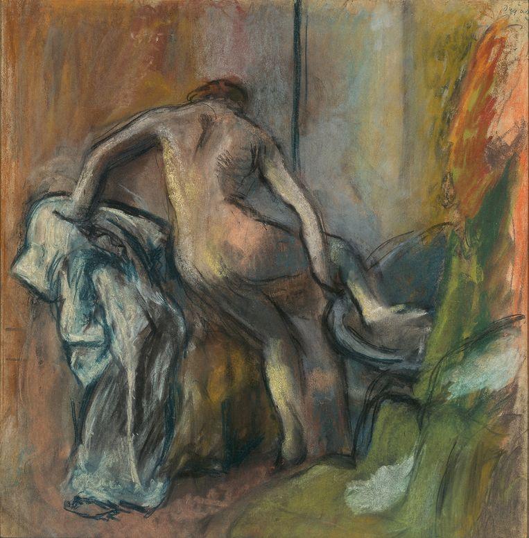 Edgar Degas, 'Na het bad', 1900-1905. Beeld Tefaf