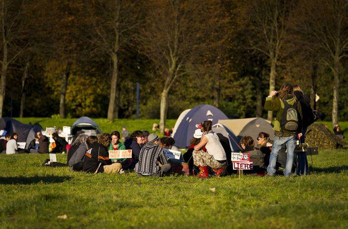 Occupy'ers op het Malieveld. © ANP