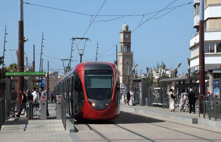 Een tram in Casablanca. Beeld colourbox