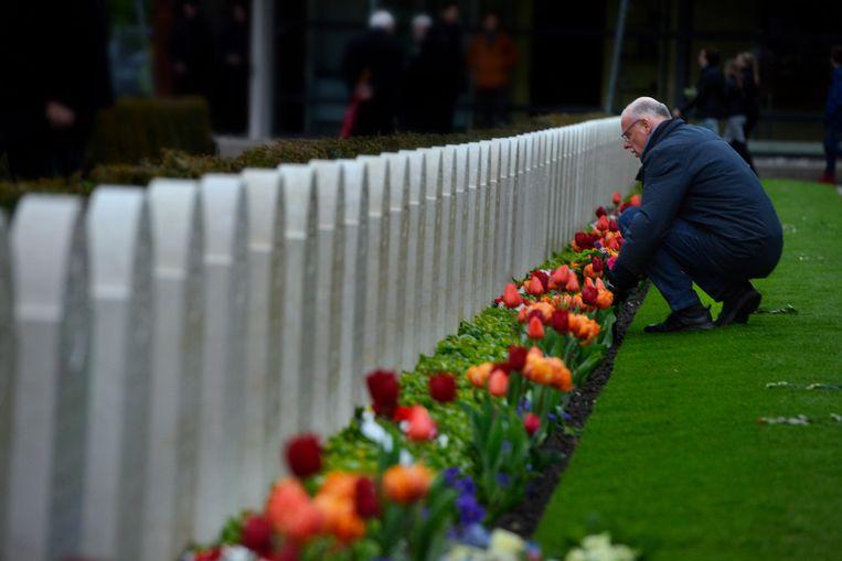 Bij herdenking van oorlogsslachtoffers, zoals hier op de Grebbeberg, kunnen niet alle oorlogen op een hoop worden gegooid. Beeld Hollandse Hoogte / William Hoogteyling