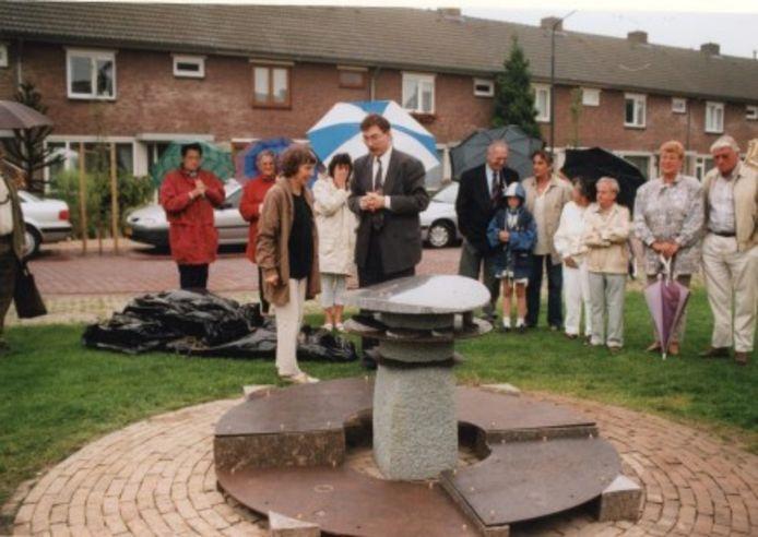 Onthulling van de Zonnespiegel in 1991