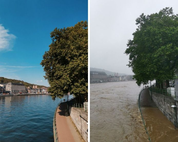 La Meuse avant/après.