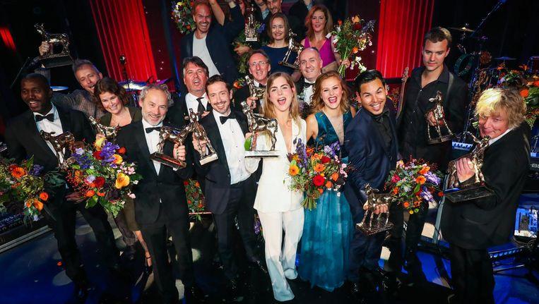Alle winnaars van de Gouden Kalveren. Beeld anp