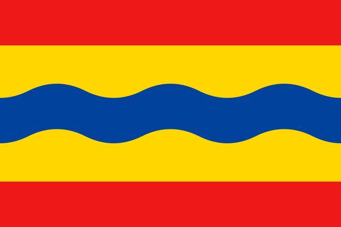 De vlag van de provincie Overijssel.