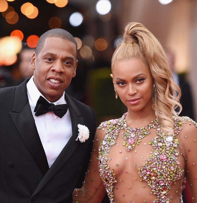 Jay Z en Beyoncé in 2015. Beeld Getty Images