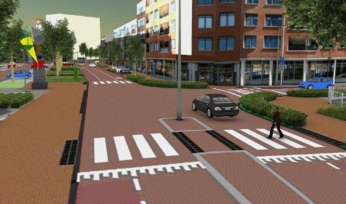 Zo gaat de Telefoonweg eruit zien. De bouw van de straat begint vanaf 2 februari.