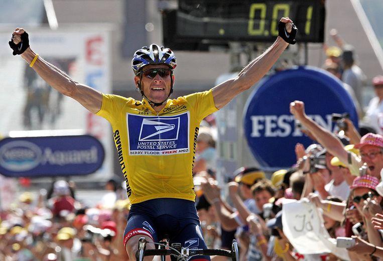 Armstrong uitkomend voor US Postal. Beeld afp