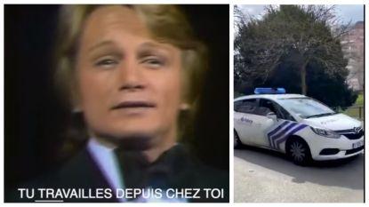 Claude François-parodie 'Reste à la maison' is zo goed dat zelfs Brusselse politie ze gebruikt, lees hier ook de Nederlandse vertaling