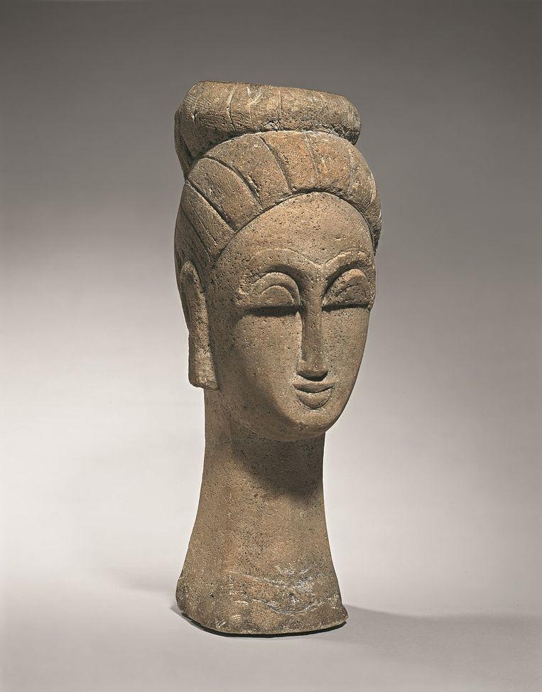 Een van Modigliani's 'Heads' (1911-'12).  Beeld rv