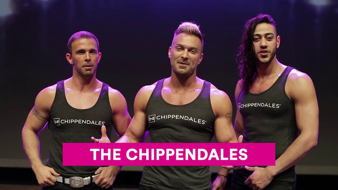 The Chippendales in een aankondiging