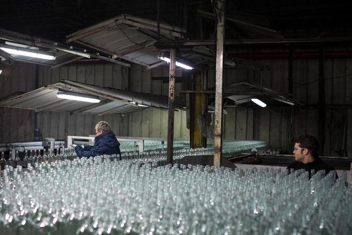 Een glasfabriek. Foto ter illustratie.
