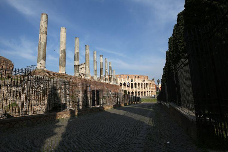 Een verlaten Rome tijdens de lockdown. Beeld Getty