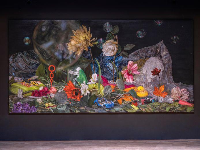 Het schilderij van kunstenares Cindy Wright.