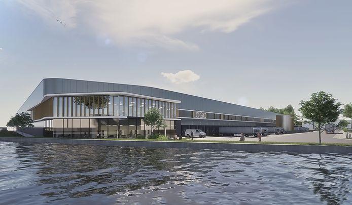 Een impressie van het nieuwe distributiecentrum aan de Sluisweg in Waalwijk.