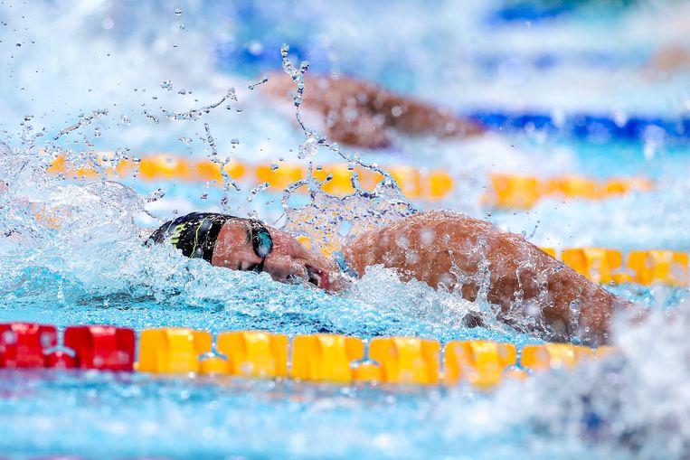 Ranomi Kromowidjojo tijdens de halve finale 100 meter vrije slag. Beeld Getty Images