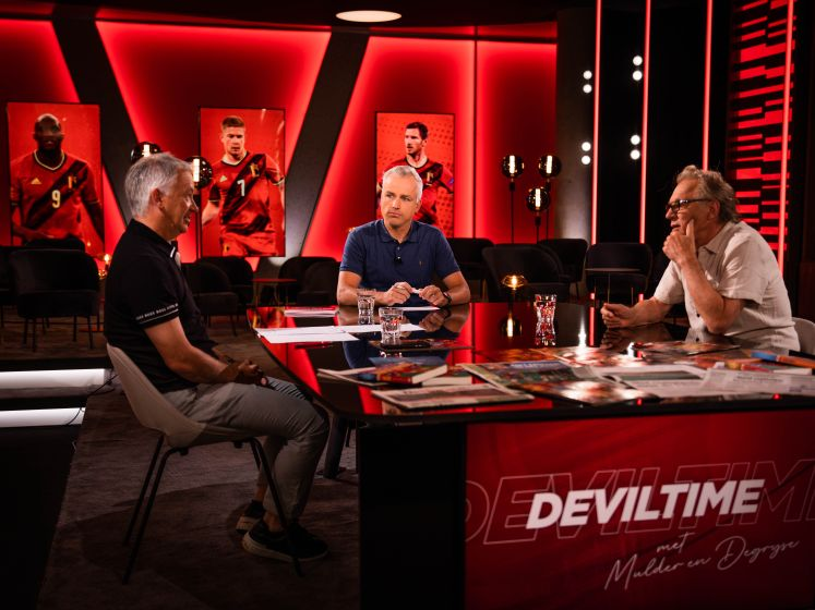 """Jan Mulder en Marc Degryse in 'Deviltime': """"Ik hoop dat Lukaku topschutter wordt, met één goal meer dan die vervelende Ronaldo"""""""