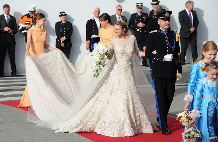 Het bruidspaar. Beeld GETTY