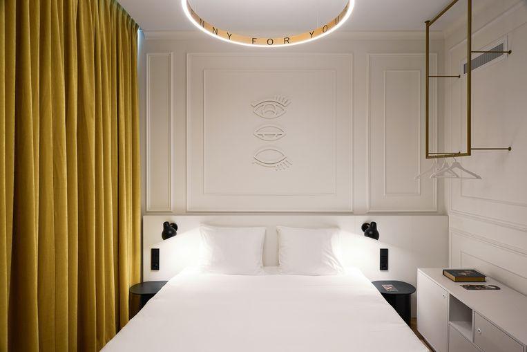 'Heavenly White'-kamer in Hotel Mariënhage. Beeld null