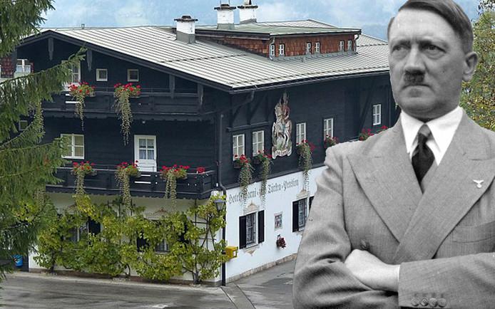"""Hitler recevait des nazis de haut rang et des membres de la Gestapo à l'hôtel """"Zum Türken"""", situé dans le sud de l'Allemagne."""