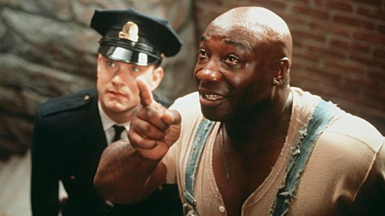 Tom Hanks (links) en Michael Clarke Duncan in The Green Mile. Beeld