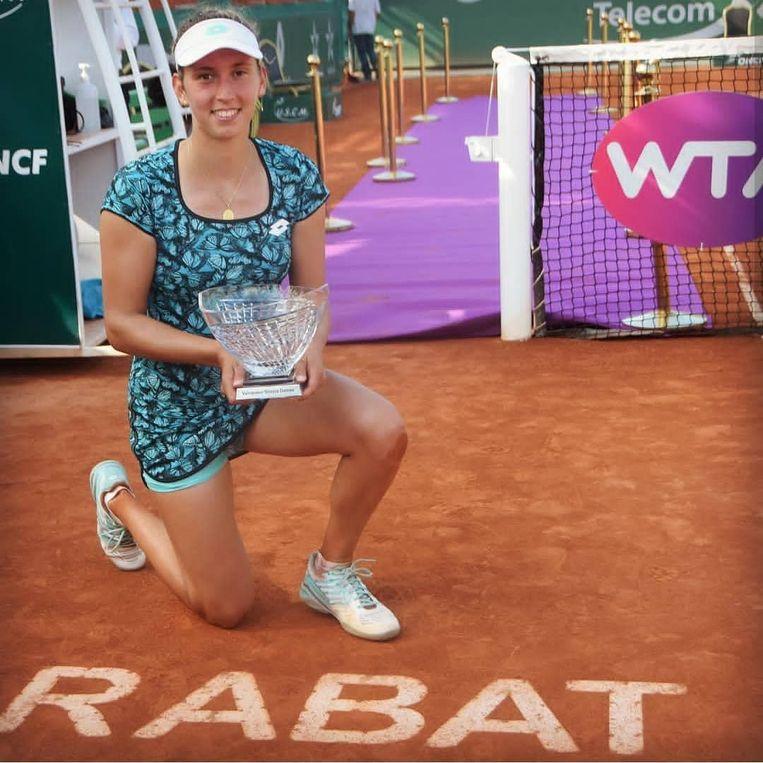 Elise Mertens wint in Rabat.