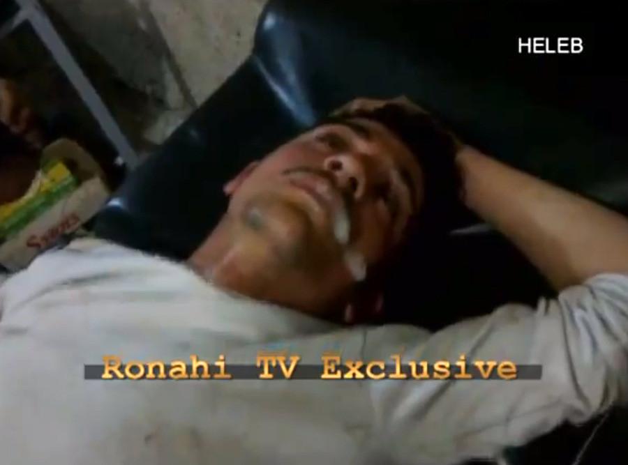 Un reportage de Rohani TV montrant un homme dans un hopital syrien la bave aux lèvres fait suspecter l'utilisation d'armes chimiques par l'armée syrienne