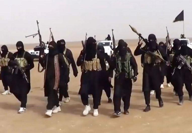 Leden van IS in Syrië. Illustratiefoto. Beeld Kos