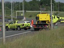 Auto over de kop geslagen op A58 bij Etten-Leur, weg weer vrij