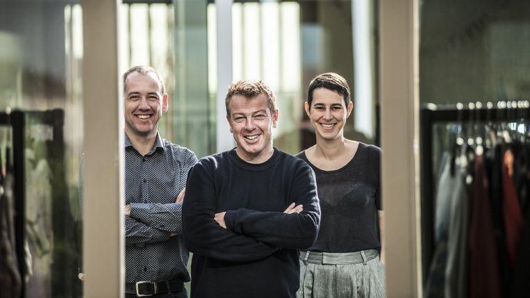 Drie van de vier verdachten vormden het voormalige management van FNG: Manu Bracke, Dieter Penninckx en Anja Maes. Beeld Marco Mertens