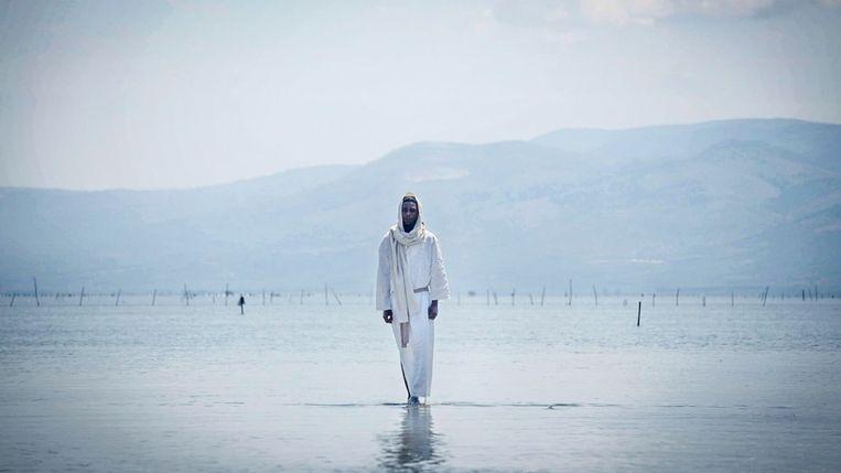 Activist Yvan Sagnet speelt Jezus in de film The New Gospel van regisseur Milo Rau. Beeld