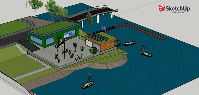 Waterscoutinggroep Johan en Cornelis de Witt krijgt medio 2022 een nieuw clubhuis aan de Baden-Powellaan bij de haven.
