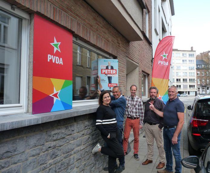 Kandidaten Nadia Charradi, Ng Sauw Tjhoi, Koen Meynendonckx, Dirk Tuypens en Rudy Sohier voor het nieuwe secretariaat.