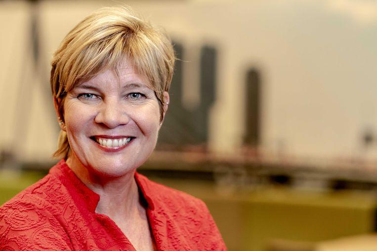 Kitty Jong, kandidaat voor de voorzittersverkiezing van de FNV.  Beeld ANP, Sander Koning