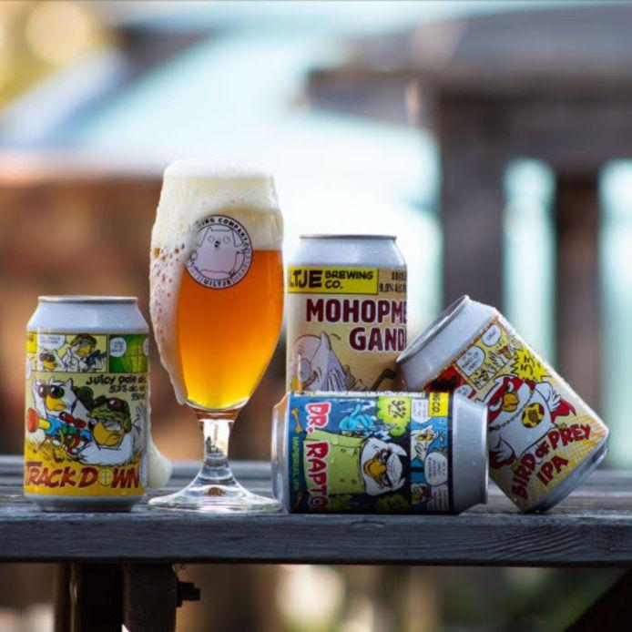 Uiltje Brewing Company staat onder meer bekend om de opvallende stripillustraties op het blik.