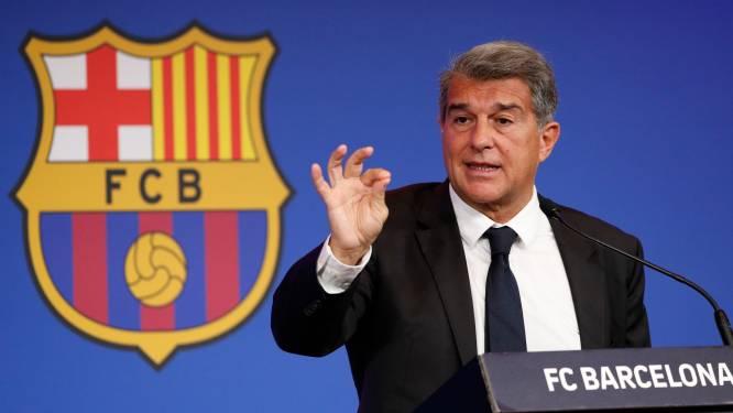 """Barça-voorzitter Laporta """"zet spelers zwaar onder druk om in te leveren"""""""