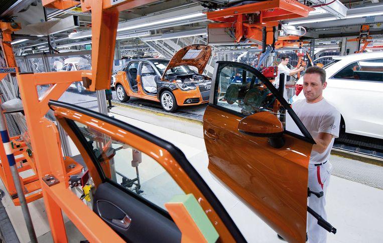 De Audi-fabriek in Brussel.  Beeld Audi