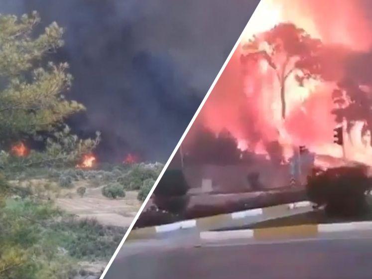 Inwoners en vakantiegangers op de vlucht voor bosbranden in Zuid-Turkije